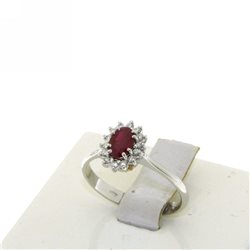 OUR CREATIONS ring diamonds and ruby bosmont4748-an-rb