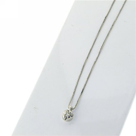 OUR CREATIONS chain with pendent solitaire diamond collection bosmont4gr-cip05