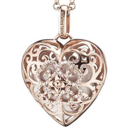 ENGELSRUFER pendent erp-01-heart-zi-lr rose silver angels calls