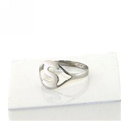 Nomi e frasi pin-an-b2 anello oro bianco con iniziale