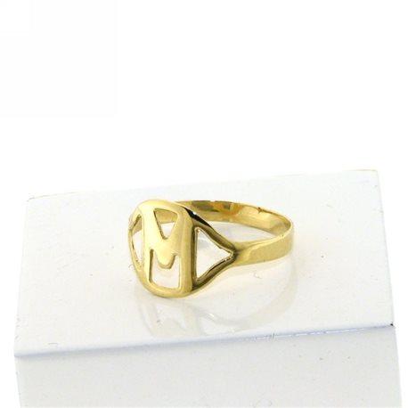 Nomi e frasi pin-an-g2 anello oro giallo con iniziale