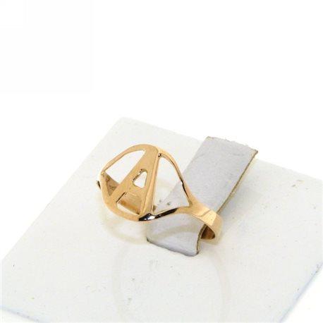 Nomi e frasi pin-an-r2 anello oro rosa con iniziale