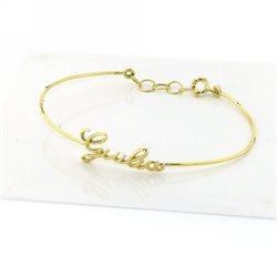Nomi e frasi pin-br-g1 personalizza il tuo bracciale oro