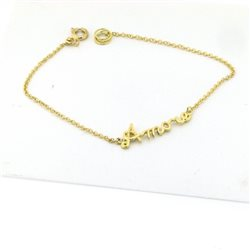 NAME AND PHRASE bracelet pin-br-g2 jewelry custom gold