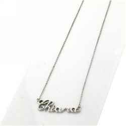 NAME AND PHRASE pin-cat-b1 jewelry custom chain with name in gold