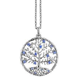 JULIE JULSEN silver pendent jj8810-1 crystal tree