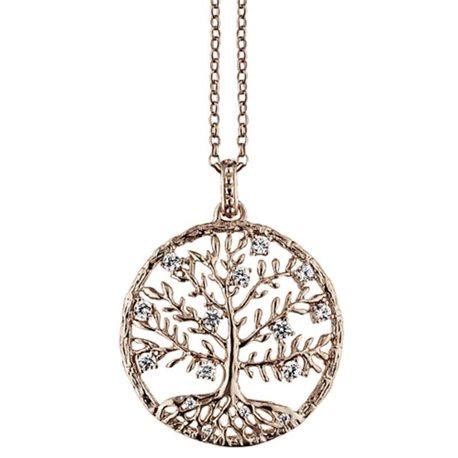JULIE JULSEN silver pendent jj8810-2 crystal tree