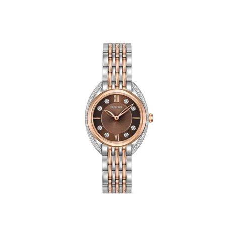 Bulova curv 98r230 orologio acciaio diamanti