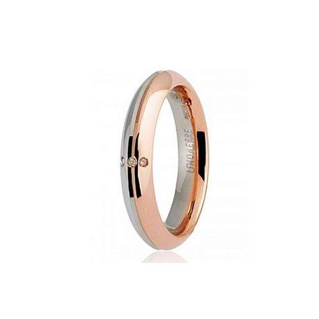 Unoaerre fede eterna 70afc290 oro bianco rosa diamanti ct 001