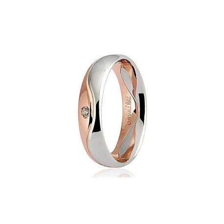 Unoaerre wedding ring 50afc9 galassia white rose gold diamonds ct 002