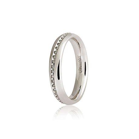 Unoaerre 40afc5-045 wedding ring infinito white gold diamonds ct 015