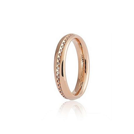 Unoaerre wedding ring 40afc5-045 infinito rose gold diamonds ct 015