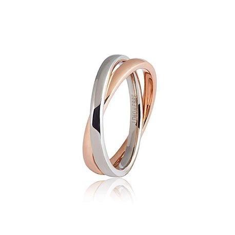 Unoaerre 24afc11 wedding ring insieme anniversary white rose gold