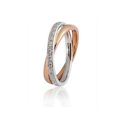 Unoaerre fede 24afc11-030 per sempre oro bianco rosa diamanti ct 030