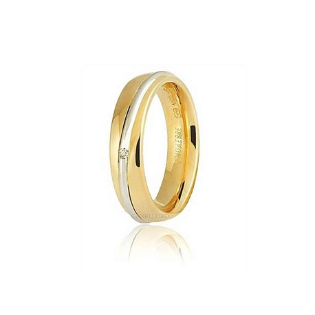 Unoaerre 50afc53-001 wedding ring saturno gold diamond ct 001