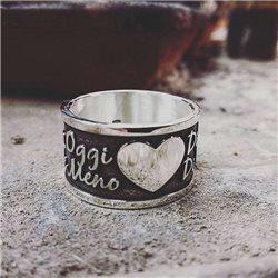 Nomi e frasi anello-l scolpisci personalizza il tuo anello