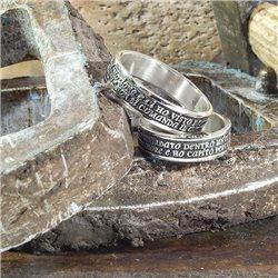 Nomi e frasi scolpisci il tuo anello-s in argento