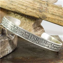 Name and phrase name and phrase bangle bracelet