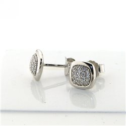 TI SENTO MILANO 7741zi silver earrings with zircons