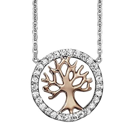 Julie Julsen jjne2780-8 petite necklace tree of life