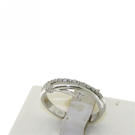 OUR CREATIONS ring you and me diamonds d-an4610
