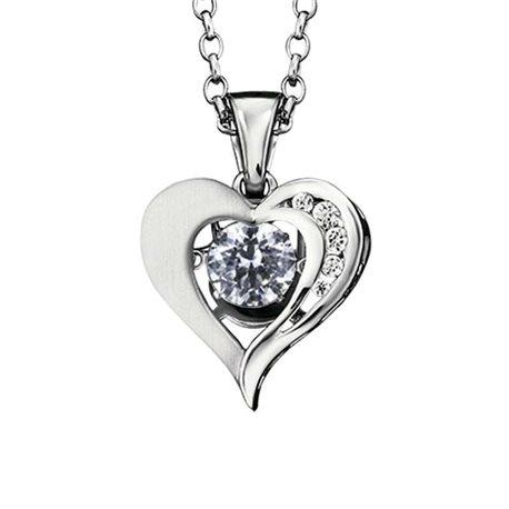 Julie Julsen jj0037-1 silver heart dancing stone pendent