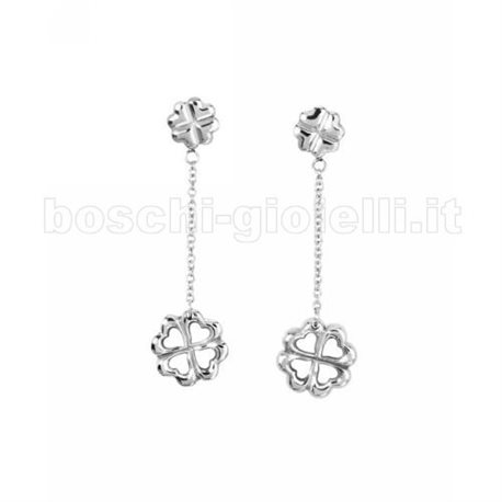 2 JEWELS 261128 steel earrings four love