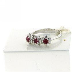 Nostre creazioni anello trilogy rubini dan4565-rb