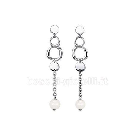 2 Jewels 261142 orecchini pendenti perle acciaio