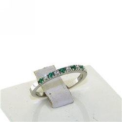 Nostre creazioni anello fedina smeraldi diamanti dan4575sm