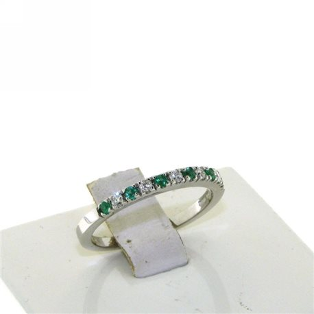 OUR CREATIONS ring diamonds and emeralds dan4575sm