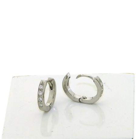 OUR CREATIONS earrings circle collection dor1576 in gold 18k with diamonds