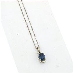 Nostre creazioni ciondolo zaffiro blu diamanti  dci4776