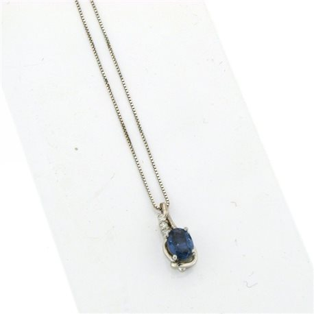 OUR CREATIONS pendent blue sapphire and diamonds dci4776