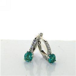 Nostre creazioni orecchini a boccola oro smeraldi diamanti or658s06