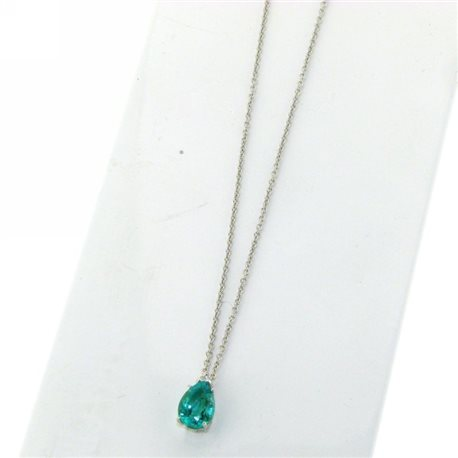 OUR CREATIONS chain with pendent emerald and diamond ci5595s01