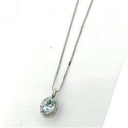 Nostre creazioni ciondolo acquamarina diamanti dciacq1585
