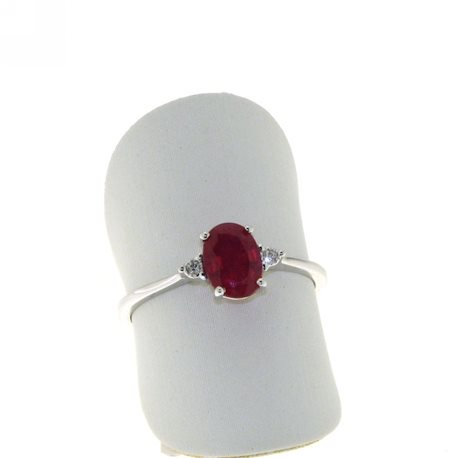 OUR CREATIONS solitaire ring ruby diamonds an32517r02