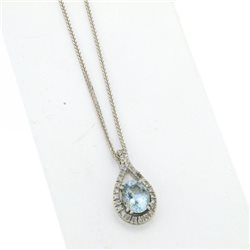 OUR CREATIONS chain with pendent aquamarine diamonds ci4727aq