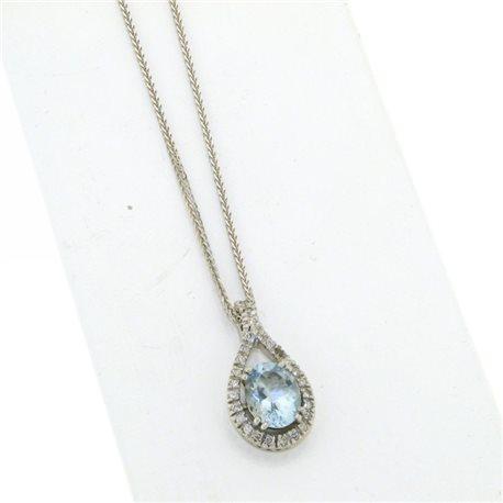 OUR CREATIONS chain with pendent aquamarine diamonds ci4727aq
