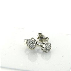 OUR CREATIONS jewelry earrings flower diamonds collection dflw-or24 in gold