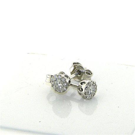 Nostre creazioni orecchini punto luce fiore con diamanti dflw-or24