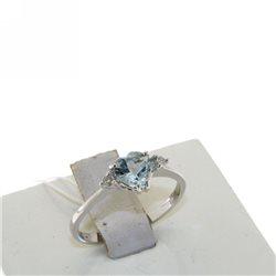 Nostre creazioni anello acquamarina diamanti 4966-r1