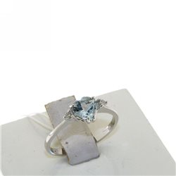 OUR CREATIONS ring aquamarine gemstones diamonds 4966-r1