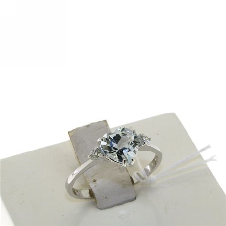 OUR CREATIONS ring aquamarine heart gemstones 4966-r2