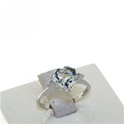 Nostre creazioni anello acquamarina cuore con diamanti 4966-r3