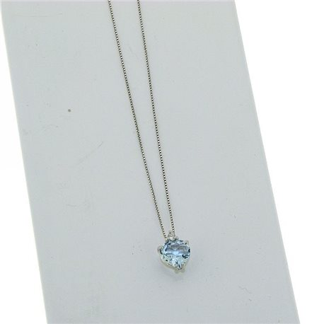 OUR CREATIONS chain with pendent aquamarine gemstones 4966-c1