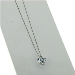 OUR CREATIONS chain with pendent aquamarine gemstones 4966-c2