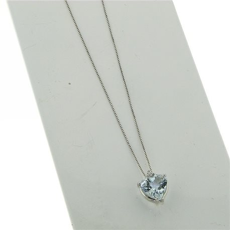 OUR CREATIONS chain with pendent aquamarine gemstone 4966-c3
