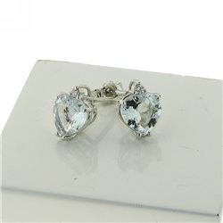 OUR CREATIONS earrings aquamarine gemstones 4966-s2 heart cut